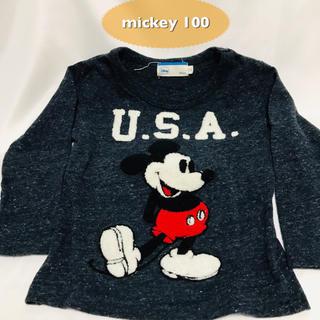 ミッキーマウス(ミッキーマウス)のmickey 子供服 100 長袖Tシャツ(Tシャツ/カットソー)