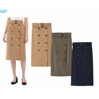 GU - 未使用【GU】ネイビー トレンチ ロングスカート