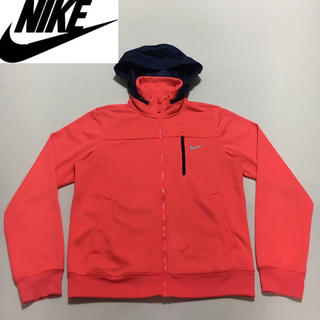 ナイキ(NIKE)のNIKE ナイキ◆ジップアップ ジャケット フード収納◆オレンジピンク Mサイズ(ナイロンジャケット)