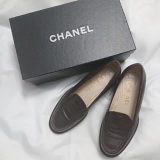 シャネル(CHANEL)のCHANEL💞チョコレートブラウンのローファー(ローファー/革靴)