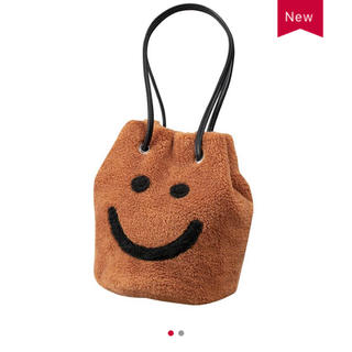 新品❤しまむら MUMU スマイルボア巾着 バッグ ブラウン