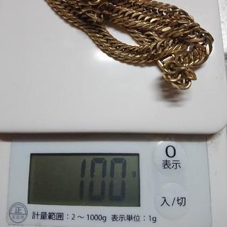 k18・ゴールド・ネックレス・100g・8面トリプル・60センチ