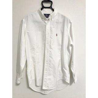ポロラルフローレン(POLO RALPH LAUREN)の美品 ポロ ラルフローレン ボタンダウンシャツ ホワイト(シャツ)