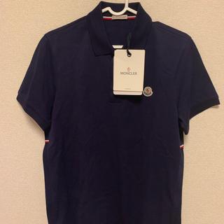 MONCLER - MONCLER モンクレール 新品トリコロールライン ポロシャツ ネイビー S