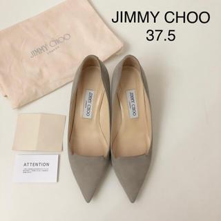 JIMMY CHOO - 極美品 ★ ジミーチュウ スエードパンプス ★ 37ハーフ ミドルヒール