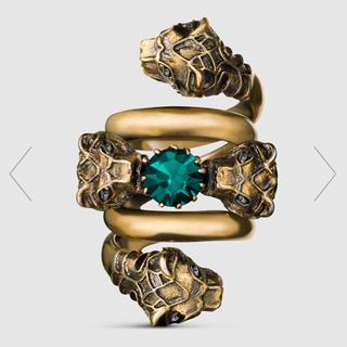 グッチ(Gucci)のGUCCI タイガーヘッド ダブルラップ リング(リング(指輪))