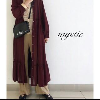 mystic - mystic シアーティアードガウンワンピース