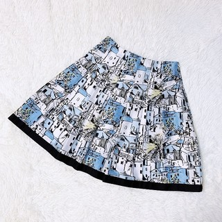 M'S GRACY - M'S GRACY  エムズグレイシー  水彩画風スカート