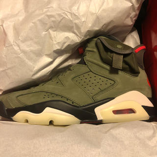 ナイキ(NIKE)のtravis scott AIR JORDAN6 25cm SNKRS購入 (スニーカー)