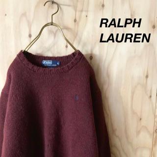 ラルフローレン(Ralph Lauren)のRALPH LAUREN ヘビーウェイト ローゲージニット バーガンディ カラー(ニット/セーター)