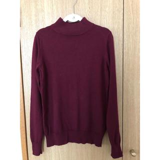 ムジルシリョウヒン(MUJI (無印良品))の無印良品 セーター ボルドー(ニット/セーター)