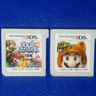 ニンテンドー3DS(ニンテンドー3DS)の2本 大乱闘スマッシュブラザーズ スーパーマリオ セット  (携帯用ゲームソフト)