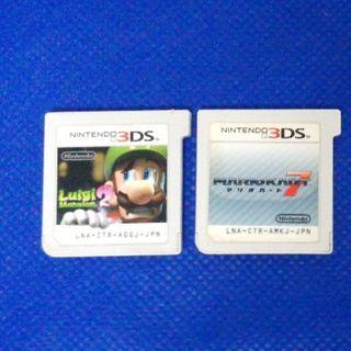 ニンテンドー3DS(ニンテンドー3DS)の3本 スーパーマリオ ルイージ ヨッシー セット(携帯用ゲームソフト)