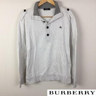 バーバリーブラックレーベル(BURBERRY BLACK LABEL)の美品 BURBERRY BLACK LABEL 長袖スウェット グレー サイズ3(スウェット)