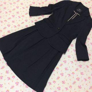 CLEAR IMPRESSION - クリアインプレッション スカートスーツ 1 W64 ストレッチ 黒 春夏秋冬
