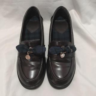 アクシーズファム(axes femme)のaxes femme (ジュニア)チェック柄ローファー(ローファー/革靴)