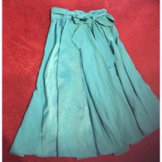 スナイデル(snidel)の新品 ターコイズブルー スカート(ひざ丈スカート)