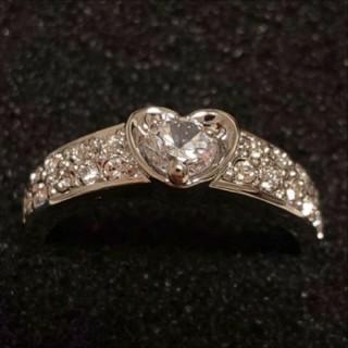 スワロフスキー(SWAROVSKI)のf2❇️ペチュニア❇️ ダイヤモンドキュービックジルコニア ハート リング(リング(指輪))