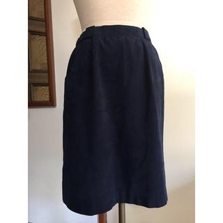 レリアン(leilian)のスエード タイトスカート(ひざ丈スカート)