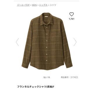 GU - 【新品・未使用】GU フランネルチェックシャツ