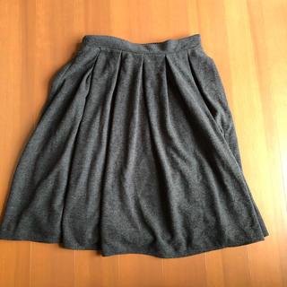 シマムラ(しまむら)のしまむら ツイード スカート 黒(ひざ丈スカート)