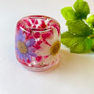 濃いピンク系♡固めるハーバリウム ☆ ペンスタンド 歯ブラシ立て(その他)