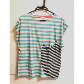 ツモリチサト(TSUMORI CHISATO)のツモリチサト Cat's ボーダー Tシャツ(Tシャツ(半袖/袖なし))