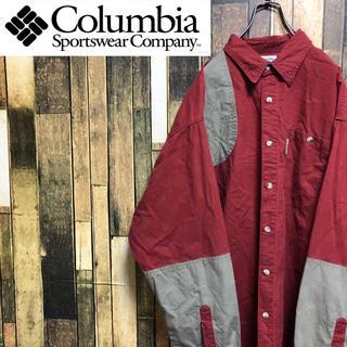 コロンビア(Columbia)の【激レア】コロンビア☆ロゴタグ入りビッグハンティングシャツ 90s(シャツ)