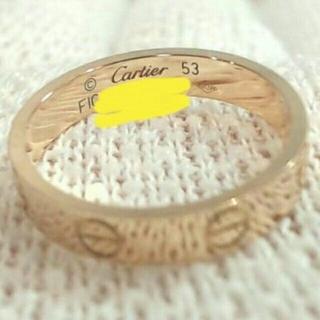 カルティエ(Cartier)のカルティエ ラブリング ♯53 ピンクゴールド 超美品❗(リング(指輪))