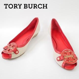 トリーバーチ(Tory Burch)のTORY BURCH トリーバーチ 7サイズ キャンバス生地 パンプス(ハイヒール/パンプス)