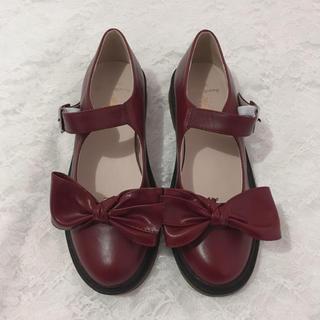 メリージェニー(merry jenny)のBacioBouquet リボンパンプスレッドローファー(ローファー/革靴)
