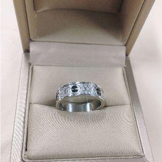 カルティエ(Cartier)のカルティエ ラブリング WG ダイヤ 15号 レディース リング 指輪(リング(指輪))