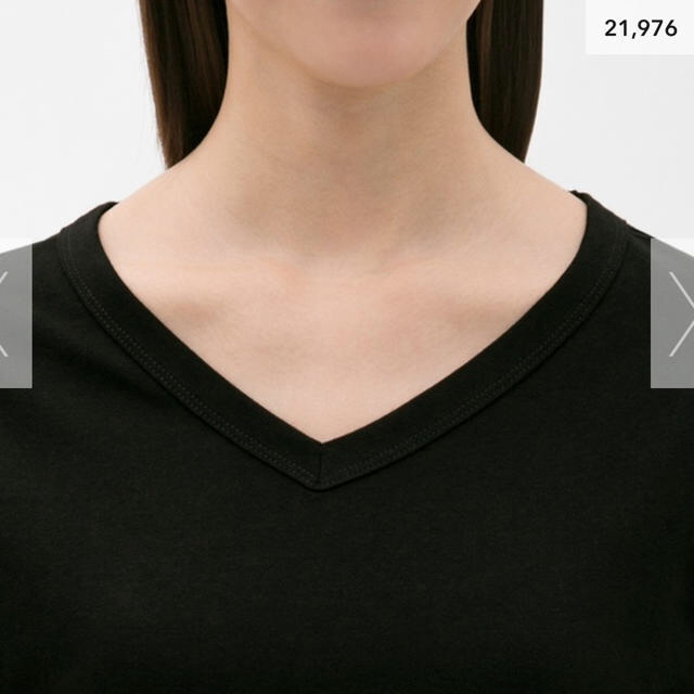 GU(ジーユー)の新品❣⃛タグ付き未開封❣⃛カラーVネックT  レディースのトップス(Tシャツ(半袖/袖なし))の商品写真