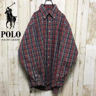 ポロラルフローレン(POLO RALPH LAUREN)のポロバイラルフローレン 90s ワンポイント  刺繍ロゴ BDシャツ(シャツ)
