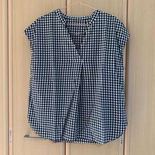 ジーユー(GU)の【新品】GU チェックシャツ(シャツ/ブラウス(半袖/袖なし))