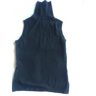 アンタイトル(UNTITLED)の黒のウール100%ノースリーブタートルネックカットソー(カットソー(半袖/袖なし))