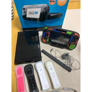 ウィーユー(Wii U)の【まとめ売り】WiiU 32GB プレミアムセット(黒)ソフト9本(家庭用ゲーム機本体)