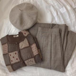 サマンサモスモス(SM2)の古着 チェックスカート(ひざ丈スカート)