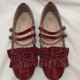 アンジェリックプリティー(Angelic Pretty)のBacioBouquet パンプス レッドシューズ 皮靴 ローファー(ローファー/革靴)