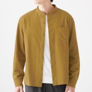 MUJI (無印良品) - フランネルスタンドカラーシャツ 無印良品