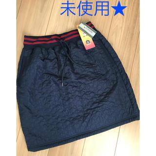 シマムラ(しまむら)の未使用★クロッシースポーツキルト綿裏フリーススカート L(ひざ丈スカート)