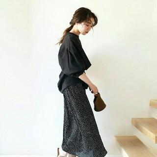 TODAYFUL - 【美品】完売TODAYFUL ルーズロングT トゥデイフル 黒カットソーロンT