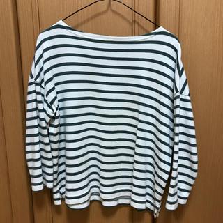 ムジルシリョウヒン(MUJI (無印良品))のドロップショルダーtシャツ 無印良品(Tシャツ(長袖/七分))