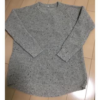 MUJI (無印良品) - 無印 muji ウール混 ニット セーター プルオーバー  ざっくり編み
