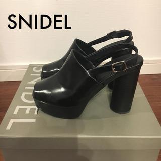 snidel - snidel スナイデル オープントゥ サボ サンダル