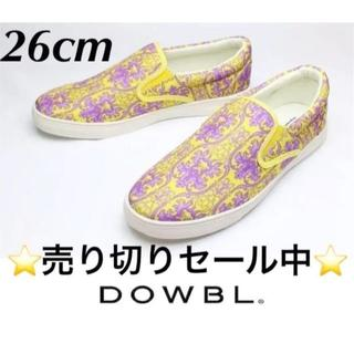 ダブル(DOWBL)の新品DOWBLヨーロピアンパターンスリッポン26cm♂定価 10,260円(スニーカー)