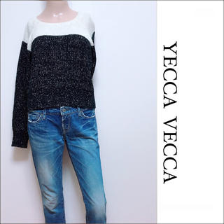 YECCA VECCA - YECCA VECCA ラメ混 切り返し ニット♡ユナイテッドアローズ ビームス