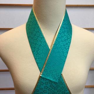 成人式、卒業式 ✨リバーシブル 重ね衿 伊達襟 エメ緑印(振袖)