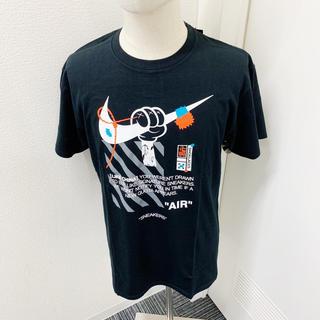 大人気スニーカーTシャツ 黒 韓国 ストリート 肩落ち ルーズ ビッグシルエット(Tシャツ/カットソー(半袖/袖なし))