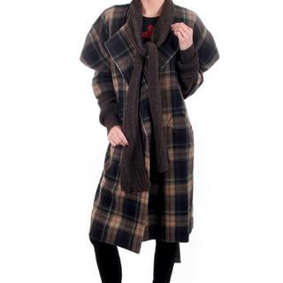 ヴィヴィアンウエストウッド(Vivienne Westwood)のDIONYSIAN チェックコート(ロングコート)